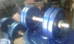Dumbells and shoulder press machine