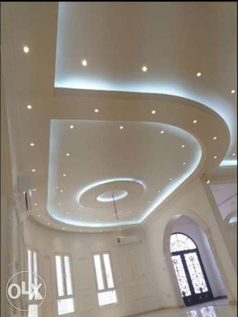 Gypsum board and painting works