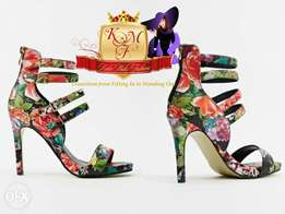 Floral Strappy Pointed Heels From U.K