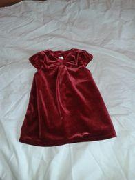 4245ebcdc2 Hm Sukienka Welurowa - Dla Dzieci - OLX.pl