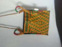 African hand woven back