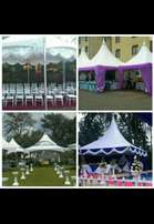 Tents, chairs,tables, deco, stage , PA and lights for hire. Spectrum.
