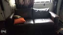 Clean leather set of Chairs for sale