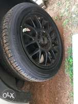 black tsw rim with 3 tyres