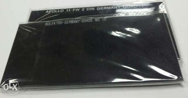 "Welders' Dark Glass 2×4"" Germany Omr0.100"