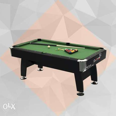 Olympia 8 Feet Billiard Table Brown frame with Green Cloth.