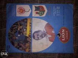 1980 match program signed by naas botha