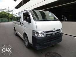 hiace van 2012 auto diesel with 14seats n pgl governor
