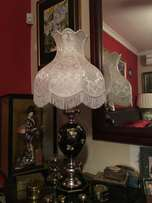 Chinese large black lacquered Lamp