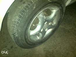 Tsw 13 inch mags 100 pcd,tyres bad