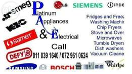 Lg fridges,washing machines,air conditioners repairs and services