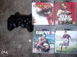 4Ps3 games+controller
