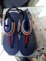 Black and brown open sandles
