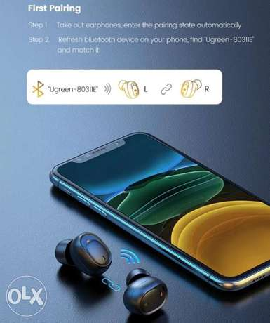 Ugreen Bluetooth Earphone 5.0 TWS True Wireless Earbuds Stereo Handsfr الرياض -  7