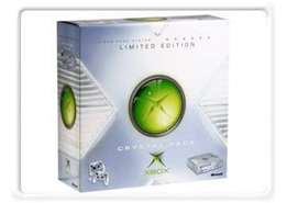 Xbox 1 1st one made by Microsoft crystal limited edition