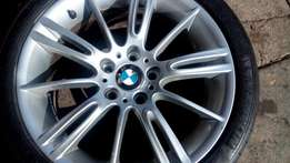Single BMW Narrow 18 inches mag rim with tyres 255/35/18 for sell