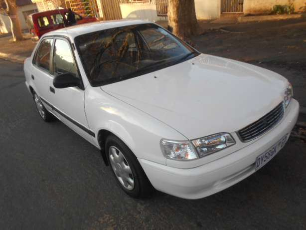 2001 White Toyota Corolla Crystal Lite 1.6 for sale Johannesburg - image 1