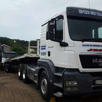 Transport company with trucks for hire