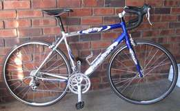 Raleigh road bike with Shimano components.