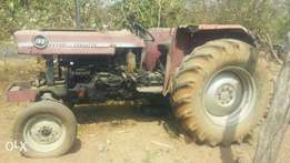 MF Tractor & Plough Ready to use