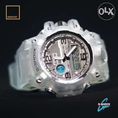 The elegant Casio G-Shock watch, now available in black and white دار السلام -  1