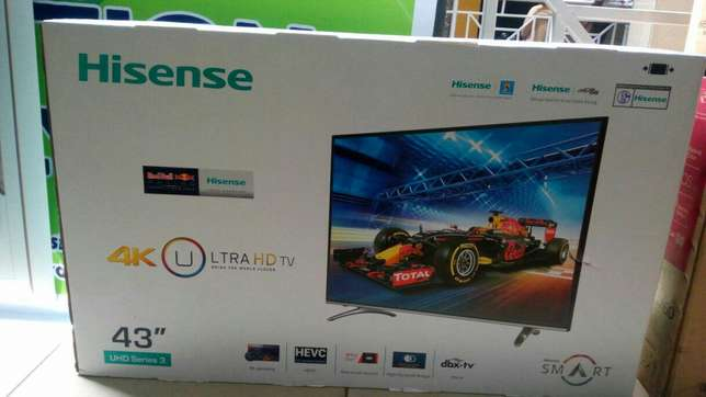 Brandnew 43inch digital smart Ultra HD 4k Tv on sale Nairobi CBD - image 1