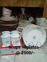 Plates with matching cups