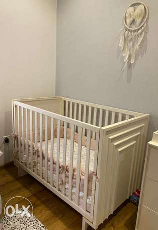 Pottery Barn kids bed crib with mattress