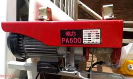 WINCH P 500 Model. industrial hoisting or pulling 240 volt. 1 ton max.