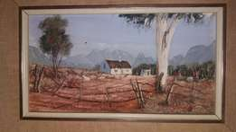 Farm Painting by PJ Coetzee