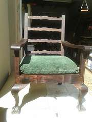 Two lovely Mahogany Ball & Claw Lounge Chairs Brakpan - image 2