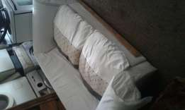 Corricraft two seater couch with pillows R500