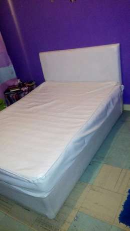 5by6 leather bed with spring leather matress Balozi - image 2