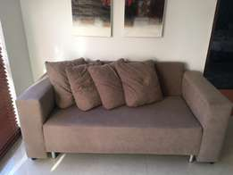 Two Seater Couch Taupe