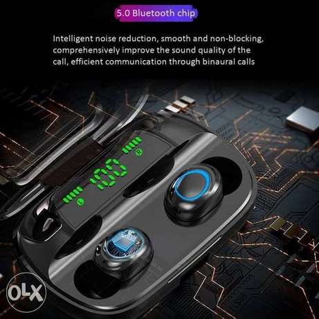 9D HIFI Tws Bluetooth 5.0 Wireless Earphones S11 Touch Control In Ear الرياض -  2