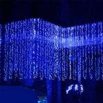 80 LED White Outdoor Curtain Light, 3m X 0.5m & Connectable