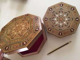 Lovely Hand Crafted Syrian boxes.