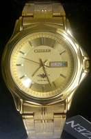 Citizen gents medium size watches in gold,gold/silver at 3500ksh.