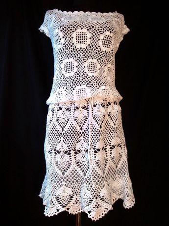 6b8525ec0b Piękna sukienka na szydełku