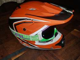Helmet, goggles, pants and gloves