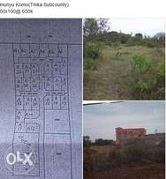 50x100 land on sale thika munyu with title deed ready for development