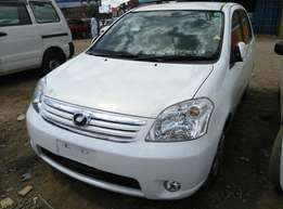 Pearl White Toyota Raum, 2009 Model,1500cc,DVD Player an Fully Loaded