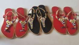 Ladies open maasai sandals