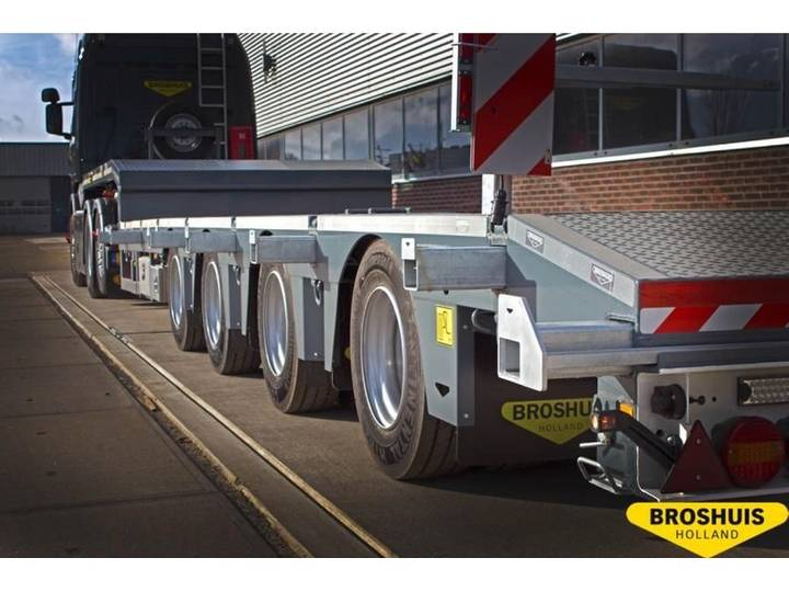 Broshuis 4-Axle SL2 Semi low loader double extendible