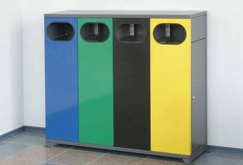 Cosuri de gunoi cvadublu de interior 40 l waste container