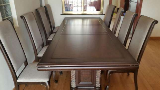 New 8 seater Dining table furniture from Dubai,made from mahogany wood Lavington - image 2