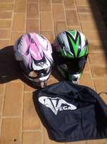 hi i have two helmets size m and size s for one price 250 for both