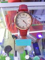 Ladies Watch with Leather Strap