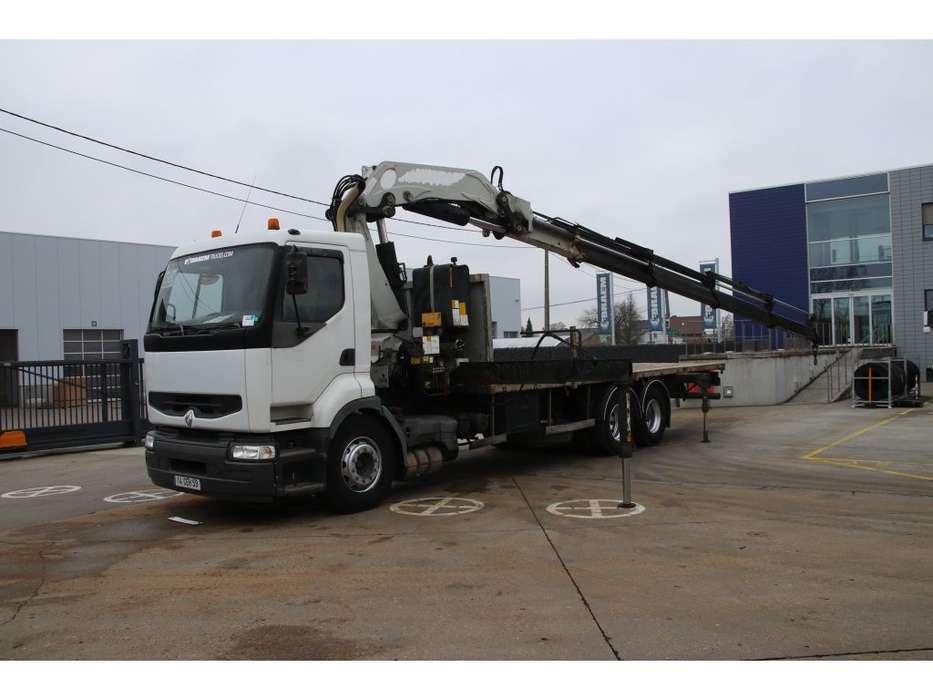 Renault PREMIUM 370 PLATEAU + Grue/Crane 34 ton/m (4x) - 2001