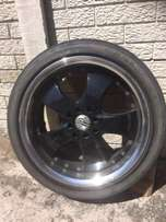 Envy 4 mag rims with 17 inch tyres security nuts anti theft. tyres 50%